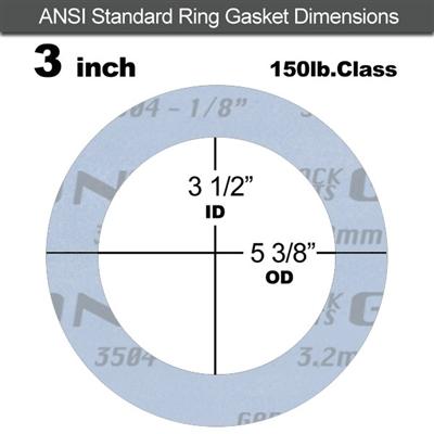 "Garlock Gylon® 3504 Ring Gasket - 150 Lb. - 1/8"" Thick ..."