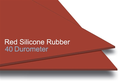 40 Duro Red Silicone Rubber Sheet 1 4 Quot Thick X 36 Quot Wide