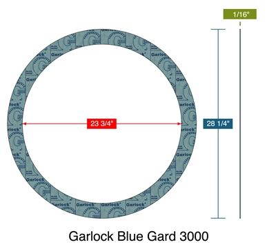 Garlock Blue Gard 194 174 3000 Custom Ring Gasket 1 16 Quot Thk