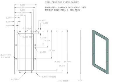 Case Top Plate Gasket 132 X 818 X 16 Od