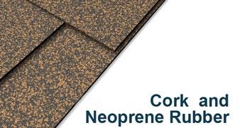 Cork and Neoprene Sheet - 1/4